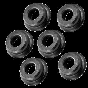 Boccole piene in acciaio da 6 mm auto lubrificanti lavorate dal pieno in CNC (B6PA)